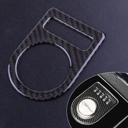 Citall console de fibra carbono do carro caixa de mudança engrenagem painel capa guarnição quadro apto para jaguar xe xf xj F-PACE