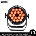 Водонепроницаемый 18x12 Вт RGBW 4в1 Светодиодный прожектор для наружной сцены DMX 512 dj светильник луч мыть клубный светильник ing 10 шт./лот