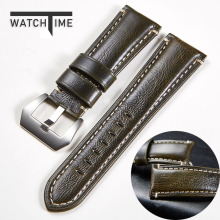 WatchTime Genuine Leather Watchband for Galaxy Watch Strap 20mm 22mm 24mm 26mm W