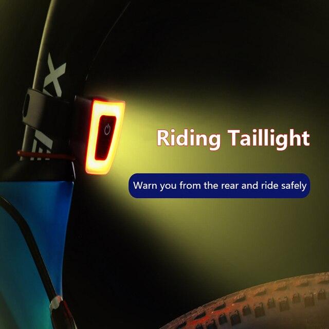 Ciclismo luz traseira usb recarregável lanterna para luz traseira da bicicleta à prova dwaterproof água capacete lanterna traseira ciclismo luz de advertência 2