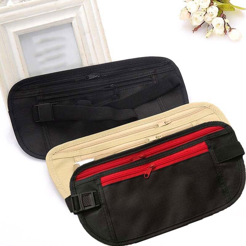 Convinient Invisible Travel Waist Packs Passport Money Belt Bag Running Biking Waist Pouches For Outdoor Accessories