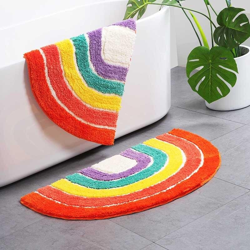 Купить полукруглый ковер мягкий плюшевый коврик для дивана напольный