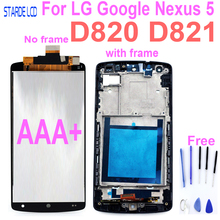 цена на AAA+ Original lcd For LG Google Nexus 5 D820 D821 LCD Display with Touch Screen and Frame Digitizer Assembly