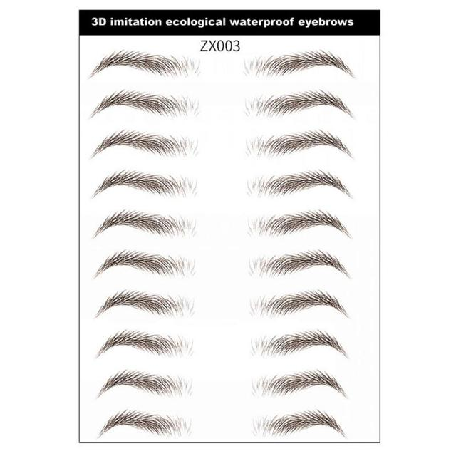 3 Style 4D Water-based Eyebrow Stickers Semi-permanent Tattoo Eyebrow Waterproof Lasting Brow sticker bionic brow stickers TSLM1 5