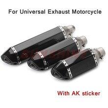 Silencieux d'échappement universel modifié pour Moto, autocollant pour tube d'échappement de motocross, pour TMAX530 Z800 Z900 R25 Z250 GY6 R3