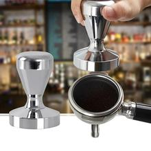 цены Kitchen Gadget Coffee Bean Tamper Stainless Steel Coffee Tamper Maker Powder Grinder 51mm Base Kitchen Press Tool Coffee Tool