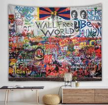 Creative hip hop graffiti tapestry custom character tapestry cushion personality home decoration drop shipping