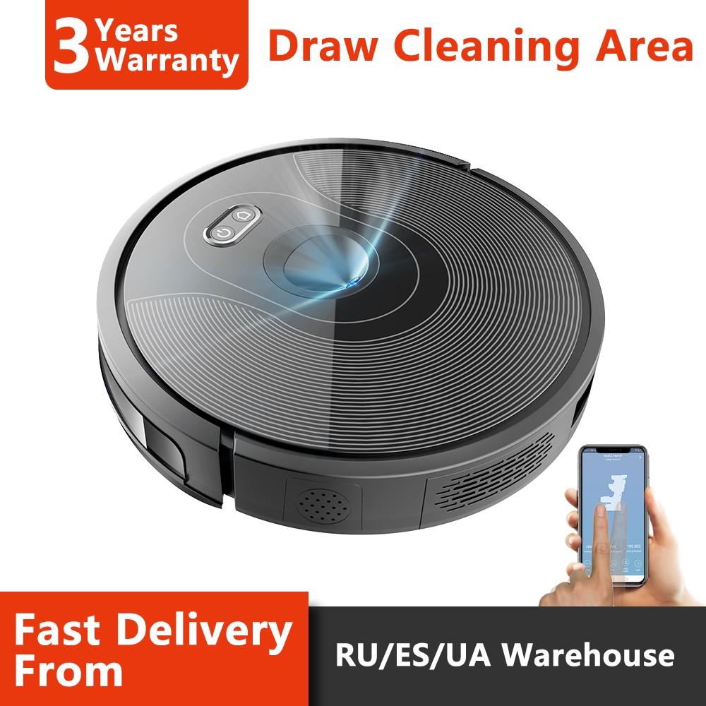 ABIR Robot Vacuum Cleaner X6,Camera Navigation,Wifi App,Map Display,Remote Upgrade,Hand Draw Virtual Blocker,Electric Water Tank