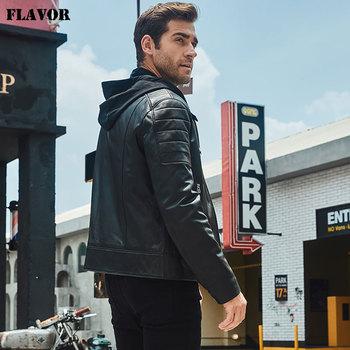 Chaquetas De Cuero | Sabor De Cuero De Los Hombres Nuevos De La Motocicleta Chaqueta De Cuero Negro Chaqueta Con Capucha Desmontable