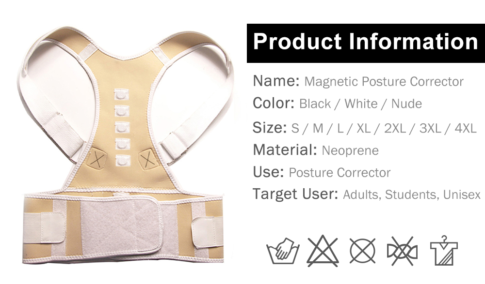 H805891a9c4c04752ade23e2e23576aeal - Male Female Adjustable Magnetic Posture Corrector Corset Back Brace Back Belt Lumbar Support Straight Corrector de espalda S-XXL