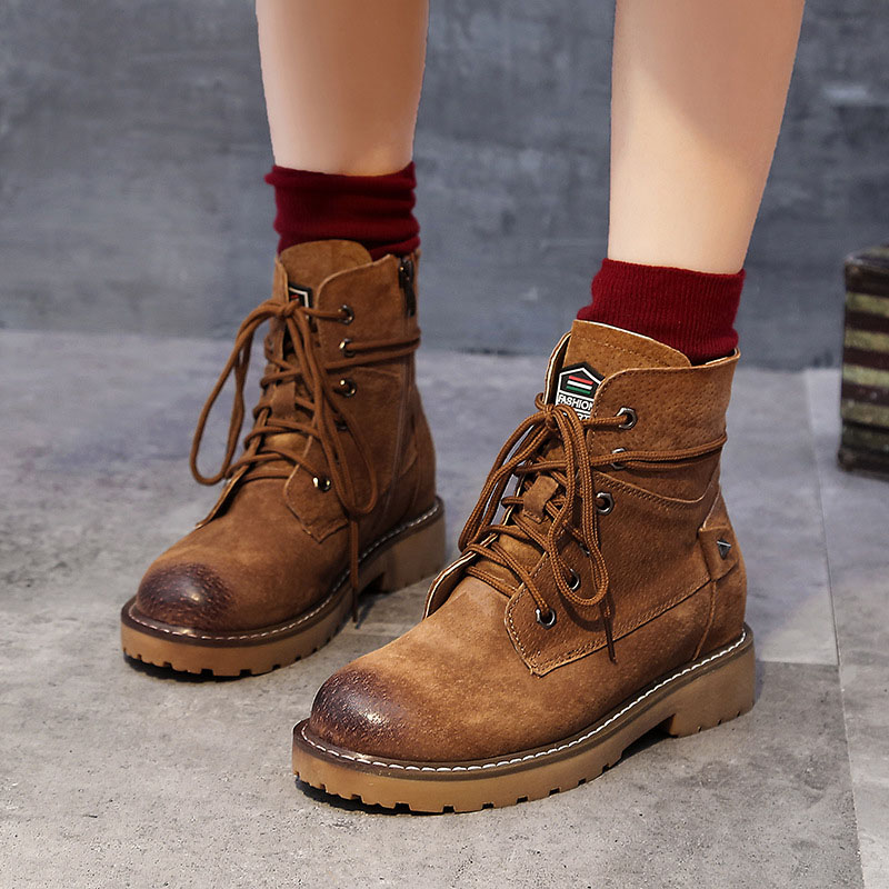 women boots Genuine Leather Ankle boots for women High heel boots Sexy 2019 Winter Fashion shoes woman botas mujer botte femme in Ankle Boots from Shoes