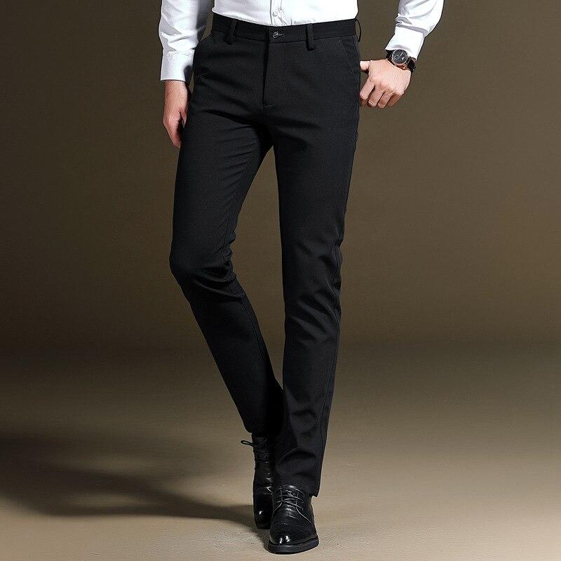 2019 Summer New Style Men's Casual Pants Elasticity Slim Fit Trousers Korean-style Suit Pants Skinny Pants Business Men's Trouse