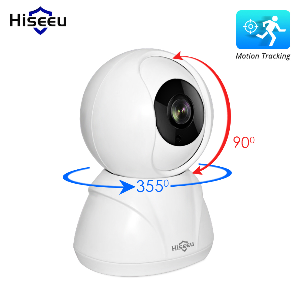 Telecamera IP Hiseeu 720P / 1080P Telecamera IP di rete wireless 2MP Wi-Fi Telecamera CCTV Telecamera di sicurezza domestica IP Baby Monitor P2P Smart Motion Track