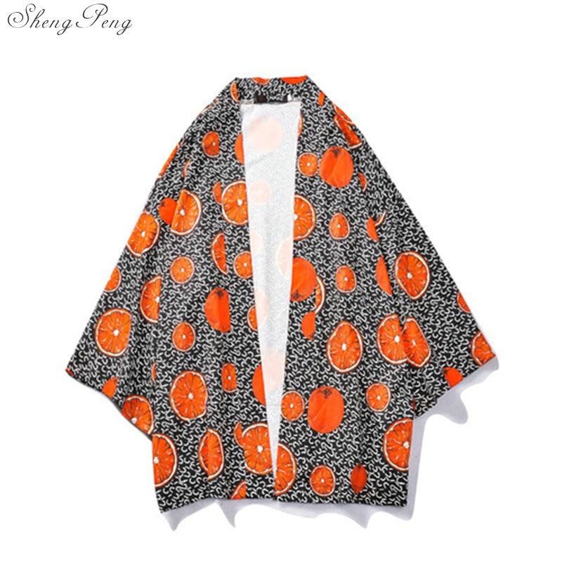 Summer New Men Wear Japanese Kimono Traditional Loose Coat Sunscreen Cardigan Cosplay Japanese Clothes Yukata Kimonos Tops V1638