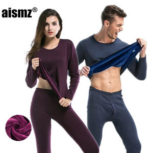 Aismz Thermal-Underwear-Sets Canada Long-Johns Fleece Thick Winter Women for Russian