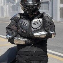 Мотоцикл броня из нержавеющей стали Броня гоночный доспех анти-осень дышащая защитная одежда мужская летняя