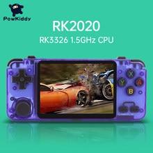 Powkiddy rk2020 jogos 3d console retro 3.5-Polegada ips tela portátil handheld game console ps1 n64 jogos de vídeo jogador