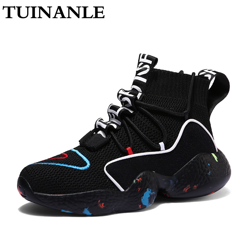 TUINANLE 2020 Women White Sneakers High Heel Casual Flats Ladies Vulcanized Shoes Fashion Black Autumn Sneakers Zapatos Mujer 1