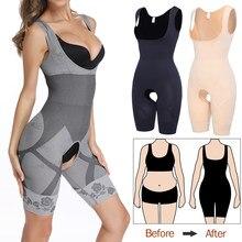 Femmes Shapewear corps complet Shaper minceur Body ouvert entrejambe Corset taille formateur façonnage sous-vêtements post-partum récupération gaine