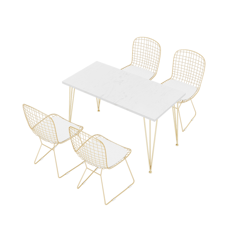 Simple net red tea shop <font><b>table</b></font> and chair combination fresh <font><b>cafe</b></font> music bar dining cold drink leisure negotiation cha image