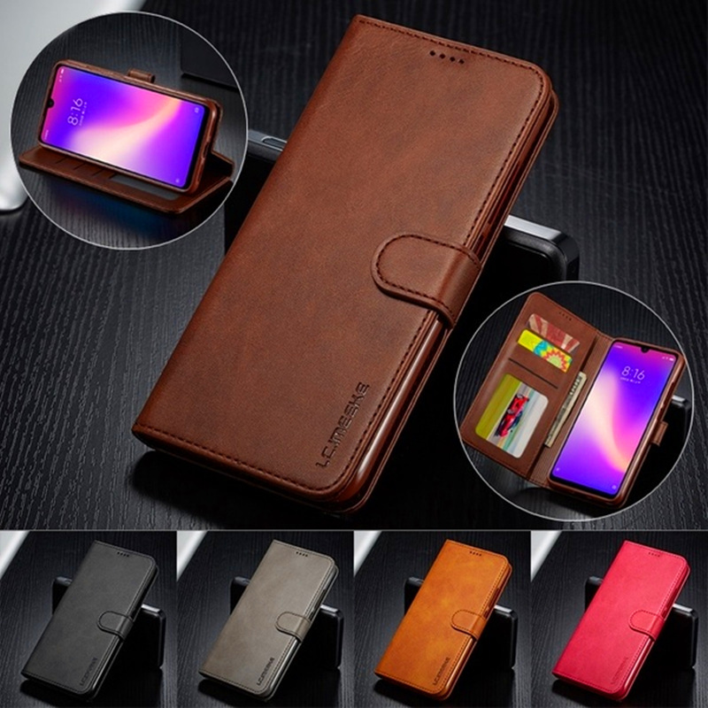 Luxury Leather Flip Case For Samsung S20 S20 plus S9 S10 S8 Cover For Galaxy A51 A71 A20e A30 A50 A70 A7 A8 J4 Wallet Flip Case title=