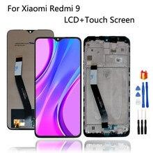 Original para xiaomi redmi 9 m2004j19g display lcd tela de toque digitador assembléia 6.53