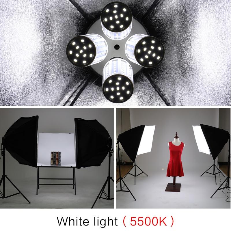 Image 5 - Photography Softbox Lighting Kit Pulsed Light for Photo Studio 8 X 20W Corn LED Bulbs  2X Light Stand Camera & Photo Accessories