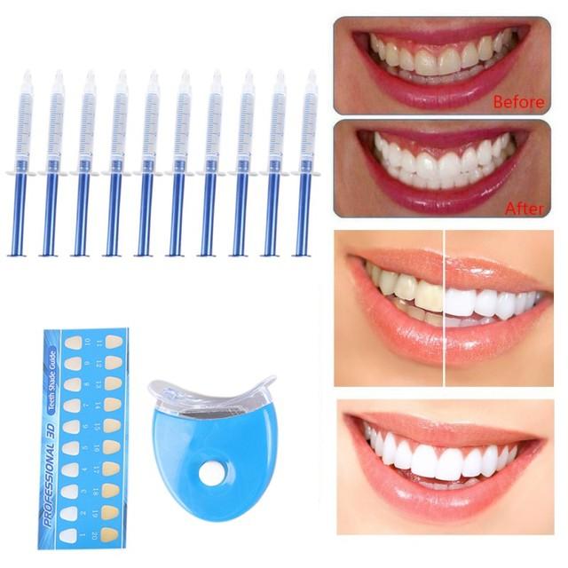 Sistema di Sbiancamento dei denti 44% di Perossido di Sbiancamento Dentale Orale Kit di Gel Decolorante Dei Denti New Dental Attrezzature 10/6/4/3pc igiene Orale 3