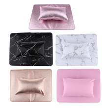 Professional Nail Manicure Care Salon Soft Hand Rest Cushion Pillow & Mat Set, Durable, Easy to Clean, Foldable, Flexible Use