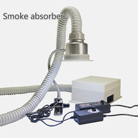 free shipping LY Anti static smoke absorber instrument for cellphone repair dual use exhaust fume and lighting 220V 110V