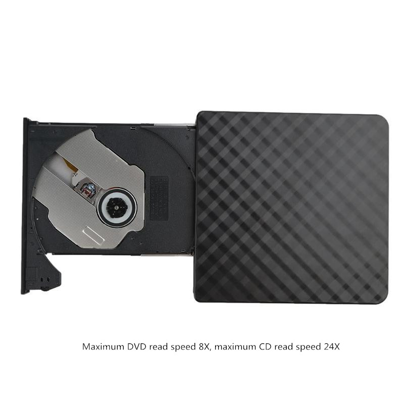 USB 2.0 DVD-ROM CD RW CD-ROM player External DVD Optical Drive Recorder Portable for Macbook Laptop Computer pc Windows 7/8