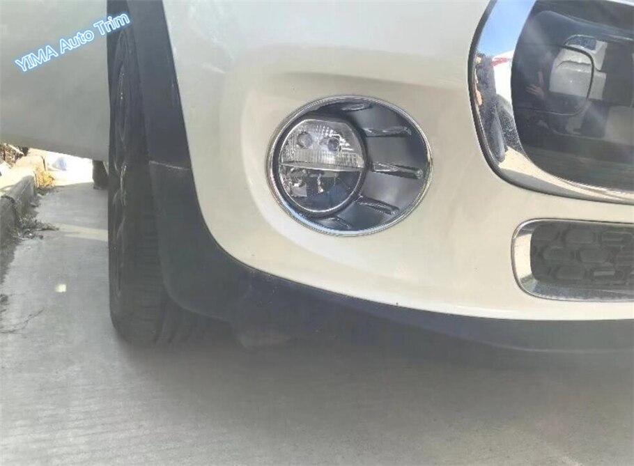 Lapetus For Mini Cooper F55 F56 F57 3 Door / 5 Door 2014   2018 ABS Auto Styling Chrome Front Fog Light Foglight Lamp Cover Trim|Chromium Styling|   - title=