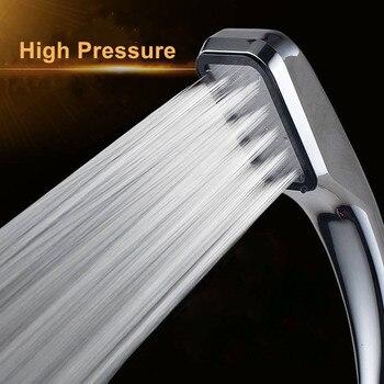 цена на Top Quality 300 Holes High Pressure Shower Head Water Saver Rainfall Chrome Power Shower Head Bathroom Accessories