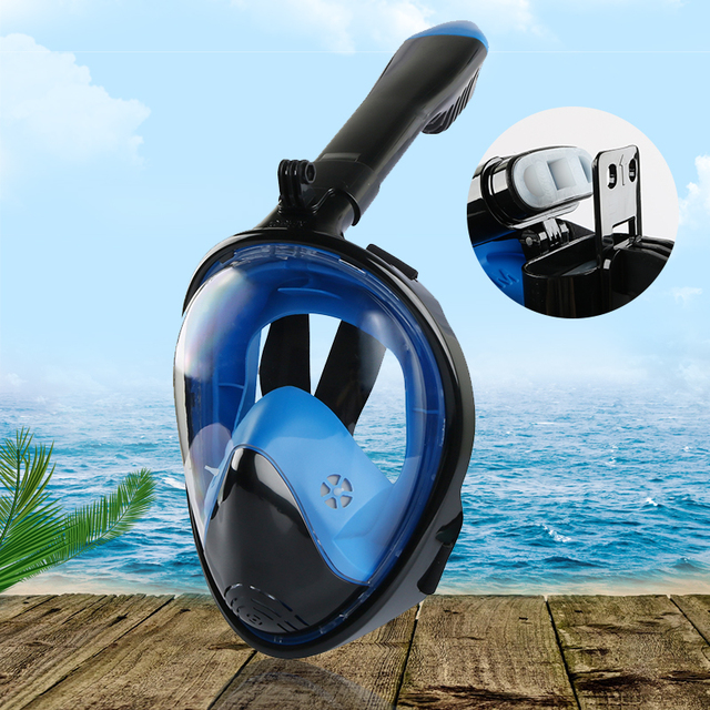 Adult Novice Scuba Diving Mask Full Face Anti Fog Underwater Snorkel Mask Set Swimming Mask for Gopro Camera(Myopia lens option) 1