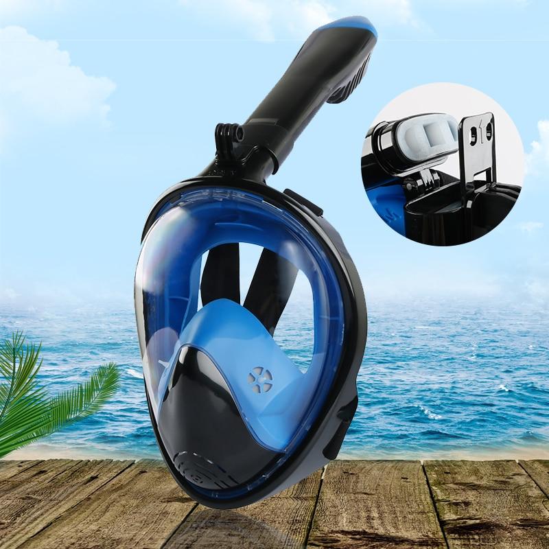 Adult Novice Scuba Diving Mask Full Face Anti Fog Underwater Snorkel Mask Set Swimming Mask for Gopro Camera(Myopia lens option)(China)