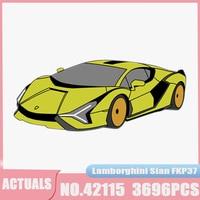 Serie tecnica zhensiano FKP37 RC Roadster modello di auto 81996 Building Blocks mattoni educativi giocattoli per bambini regali