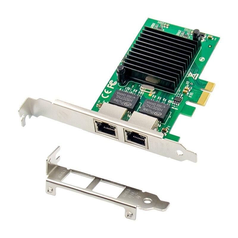 2 порта PCIE X1 1000M PCIe Gigabit Ethernet двойной порт RJ45 Lan сетевая карта чип Intel 82576EB 1000M Pci-e Ethernet сервер