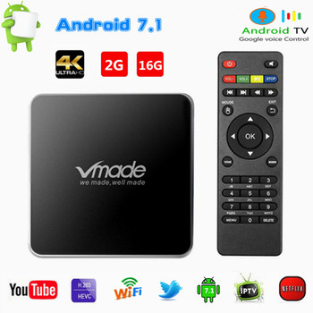 V96 PRO Smart Android TV Box 2GB 16GB Media Player HD 4K WIFI Netflix Youtube Google Mini Set Top Box Android 7.1 IP-TV BOX
