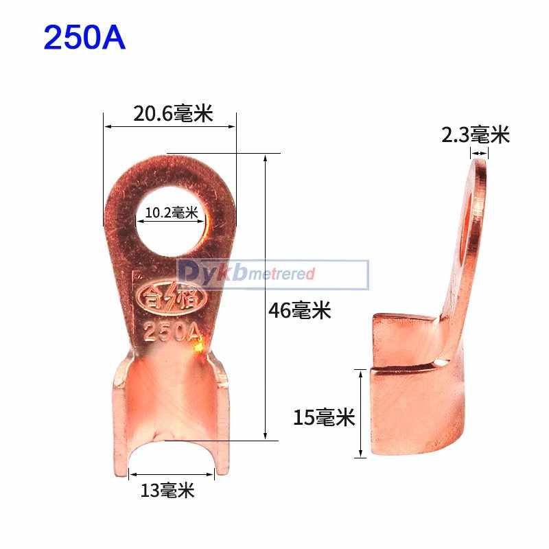 5A-500A 100A 300A soldador de punta de cobre de boca abierta 10A 20A 40A 60A 80A/Cable de batería terminal conector crimpado