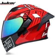 Nowy kask motocyklowy kask ochronny kask Motocross kask podwójny kask DOT zatwierdzony tanie tanio JIEKAI 1 5 kg Flip Kask Unisex