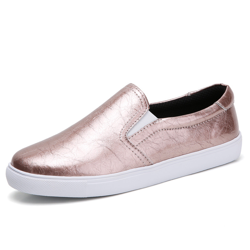 PINSEN New 2020 Autumn Loafers Women Flats Shoes Genuine Leather Casual Shoes Woman Slip-on Ballerina Flats Shoes Ladies Shoes 5