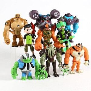 Image 2 - Figuras de acción de Humongousaur Rath Vilgax, juguetes para niños, regalos, 11 unidades/juego, Ben Grey Matter, Heatblast, PVC