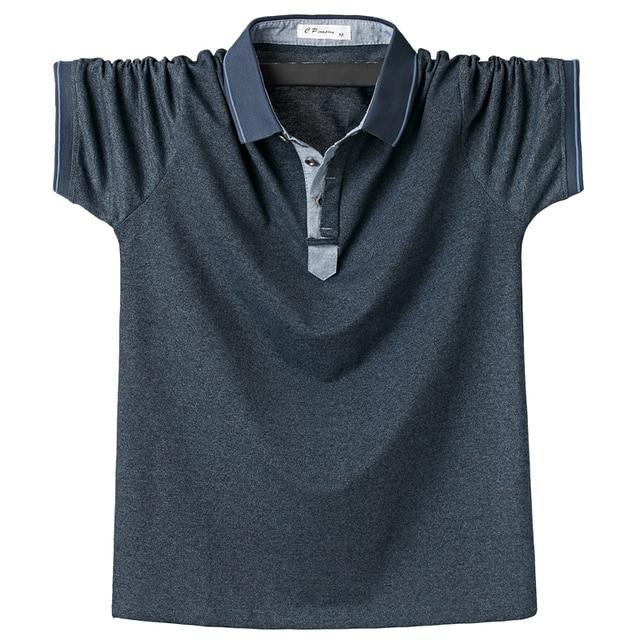 Summer Men Polo Shirt Mens Classic Solid Polo Shirts Cotton Shirt 6XL Large Size Casual Fashion Men Outwear Clothing Tops Tees 2