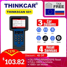 THINKCAR THINKSCAN 601 OBD2 Code Reader Car Diagnostic Tool for Engine ABS SRS Systems with Oil EPB SAS TPMS Reset Free Update