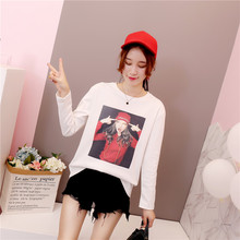 Milinsus Autumn Harajuku Long Sleeve female T-Shirt Print Korean Bottoming Shirt kawaii tee fashion women camisetas mujer shirt