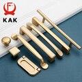 KAK Европейский стиль матовые золотые ручки шкафа Твердый алюминиевый сплав кухонный шкаф ручки для выдвижных ящиков оборудование для обраб...