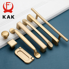 KAK European Style Matte Gold Cabinet Handles Solid Aluminum Alloy Kitchen Cupboard Pulls Drawer Knobs Furniture Handle Hardware