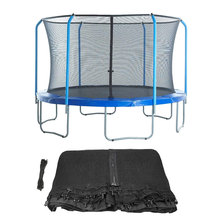 Safety-Net Round-Frames with Black Trampoline Fits Bounce-Replacement Perfect-Bounce