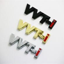 50X 3D מתכת vvt i VVTi כרום רכב פגוש מדבקת צד סמל תג עבור טויוטה קאמרי קורולה יאריס Ralink רייז כתר רכב סטיילינג