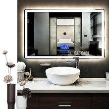 CTL305 умное зеркало настенное противотуманное зеркало для ванной комнаты светодиодный сенсорный переключатель Bluetooth зеркало для ванной комнаты 110 В/220 В 4,8 Вт/м 800*1300 мм
